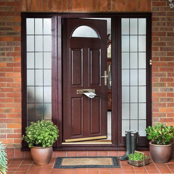 Rosewood PVC front doors